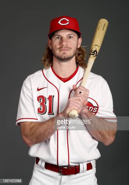 Travis Jankowski poses during Cincinnati Reds Photo Day on February 19, 2020 in Goodyear, Arizona.