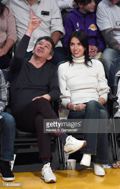 Travis Kalanick attends the basketball game between Miami Heat and Los Angeles Lakers at Staples Center on November 8 2019 in Los Angeles California