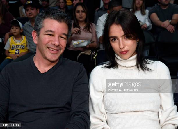 Travis Kalanick attends the Miami Heat vs Los Angeles Lakers at Staples Center on November 8 2019 in Los Angeles California