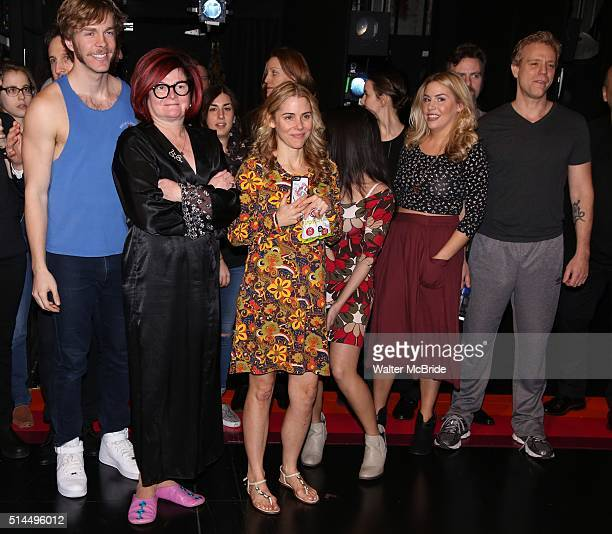Travis Kent Faith Prince Kerry Butler Maggie McDowell and Adam Pascal during the Broadway Opening Night Actors' Equity Gypsy Robe Ceremony honoring...