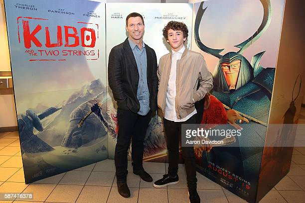 Travis Knight and Art Parkinson at a special screening of Kubo And The Two Strings In Miami at Regal South Beach on August 8 2016 in Miami Florida