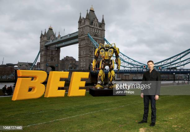 Travis Knight attends a photocall in support of Paramount Pictures' film 'Bumblebee'â at Tower Bridge, Potters Field Park on December 5, 2018 in...