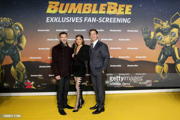 Travis Knight Hailee Steinfeld and John Cena attend a special screening of 'Bumblebee' at on December 3 2018 in Berlin Germany