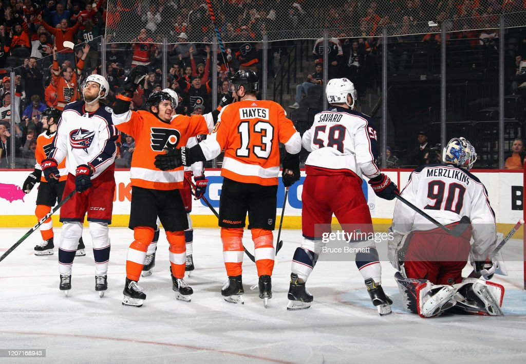 Columbus Blue Jackets v Philadelphia Flyers : News Photo