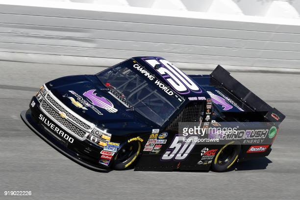 Travis Kvapil Beaver Motorsports Motorsports Safety Group Chevrolet Silverado during practice for the NextEra Energy Resources 250 NASCAR Camping...