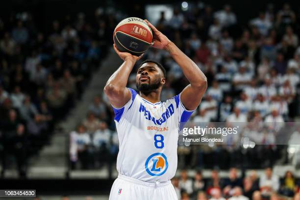 Travis Leslie of Boulazac during the Jeep Elite match between Boulazac Basket Dordogne v JL Bourg en Bresse on November 17 2018 in Boulazac France