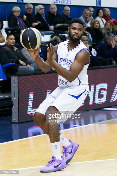 Travis Leslie of Levallois during the Pro A match between Levallois and Chalons Reims at Salle Marcel Cerdan on December 16 2017 in Paris France