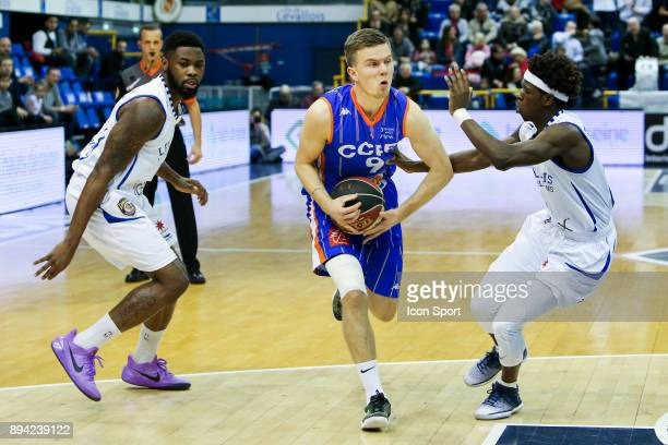 Travis Leslie of Levallois Martin Hermannsson of Chalons Reims and Sylvain Francisco of Levallois during the Pro A match between Levallois and...
