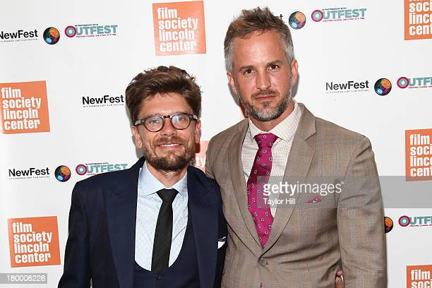 Travis Mathews and Christian Patrick attend the NewFest 2013 Screening Of Interior Leather Bar at The Film Society of Lincoln Center Walter Reade...