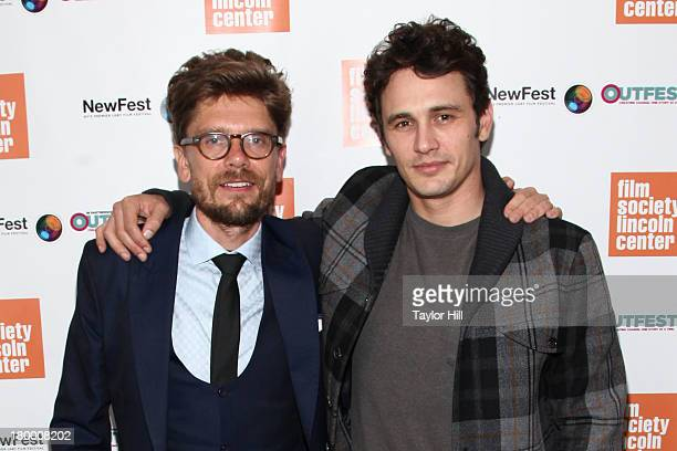Travis Mathews and James Franco attend the NewFest 2013 Screening Of Interior Leather Bar at The Film Society of Lincoln Center Walter Reade Theatre...