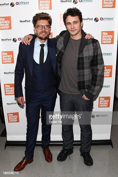 Travis Mathews and James Franco attends the NewFest 2013 Screening Of Interior Leather Bar at The Film Society of Lincoln Center Walter Reade Theatre...