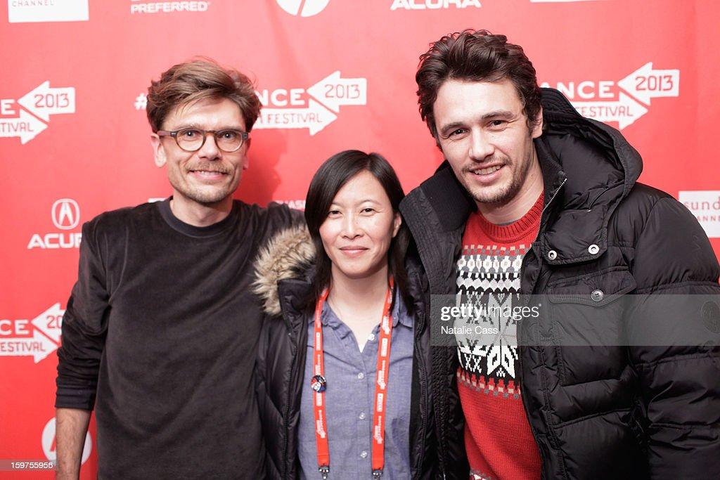 Travis Mathews, Kim Yutani and James Franco attend 'Interior. Leather Bar' premiere during the 2013 Sundance Film Festival at Prospector Square on January 19, 2013 in Park City, Utah.