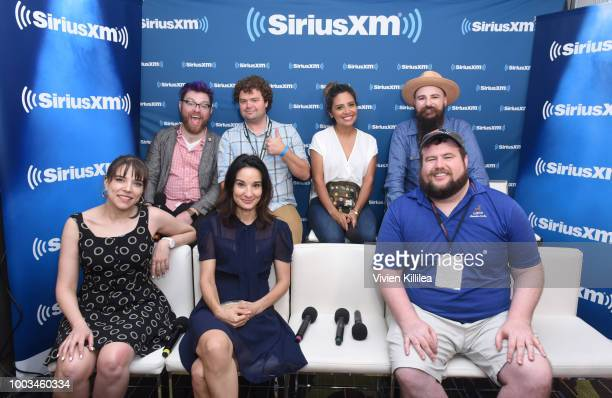 Travis McElroy Jordan Morris Cristela Alonzo Jesse Thorn Eliza Skinner Alison Becker and Mike Mitchell attend SiriusXM's Entertainment Weekly Radio...