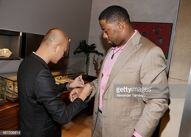 Travis Ngo and Randy Starks are seen at David Yurman InStore Shopping Event Hosted by Randy Starks To Benefit The Florida Breast Cancer Foundation on...