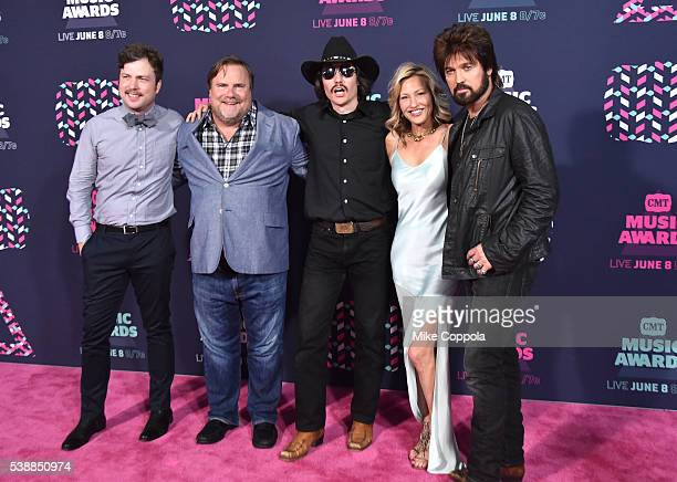 Travis Nicholson Kevin P Farley Jon Sewell Joey Lauren Adams and Billy Ray Cyrus attend the 2016 CMT Music awards at the Bridgestone Arena on June 8...