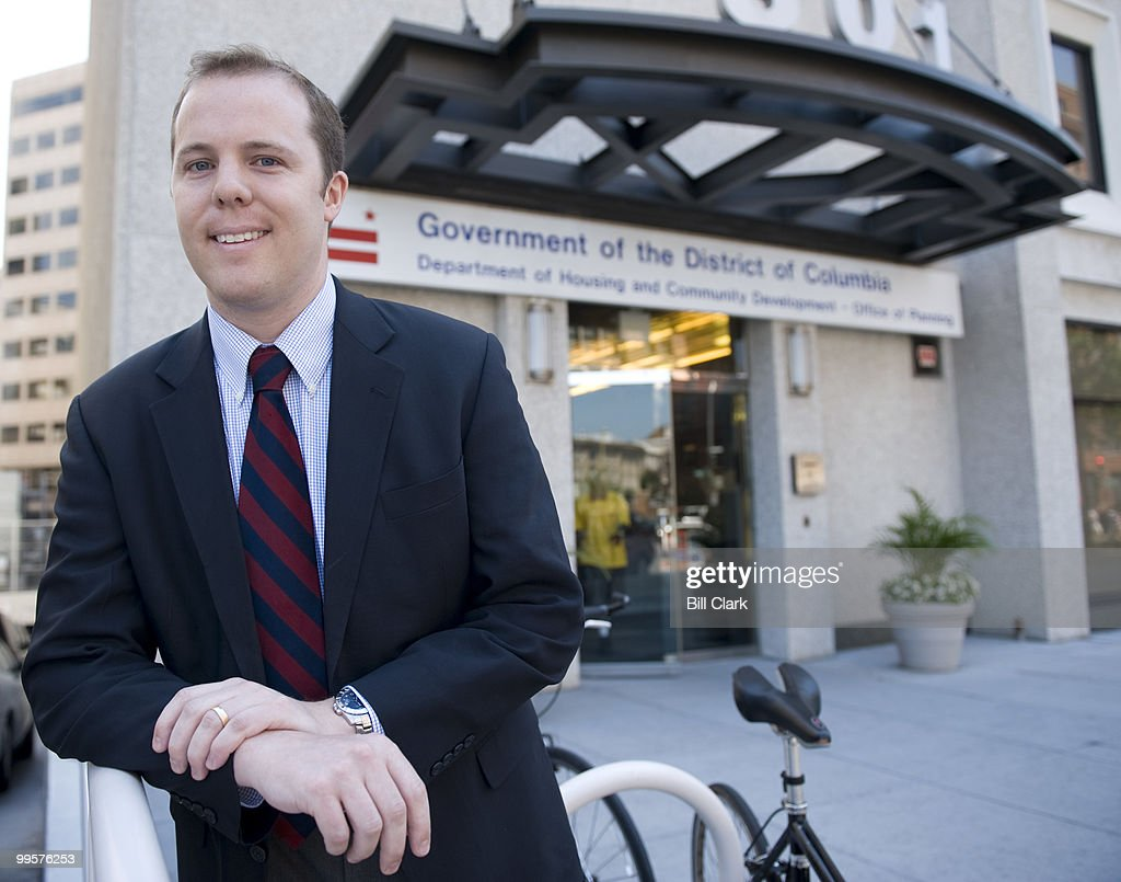 Travis Parker, Zoning Review Manager for the DC Office of Planning, poses outside of his office building on North Capitol Street on Friday, July 25, 2008.