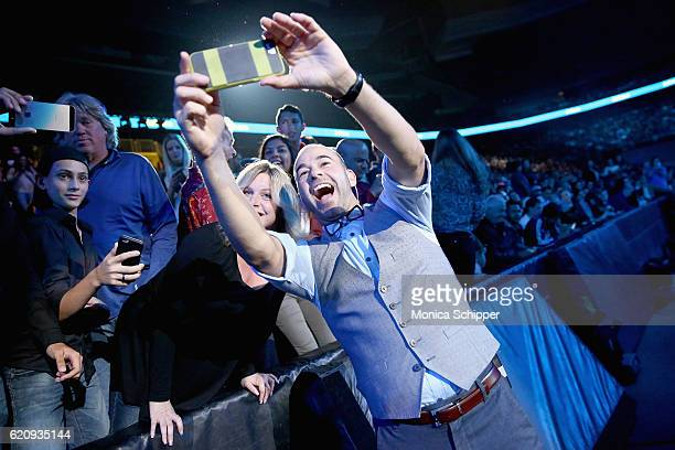 Travis Pastrana and James Murray attend the Impractical Jokers Live Nitro Circus Spectacular at Prudential Center on November 3 2016 in Newark New...
