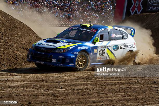 Travis Pastrana competes during Rally Car at Summer X 16 on July 31 2010 in Los Angeles California
