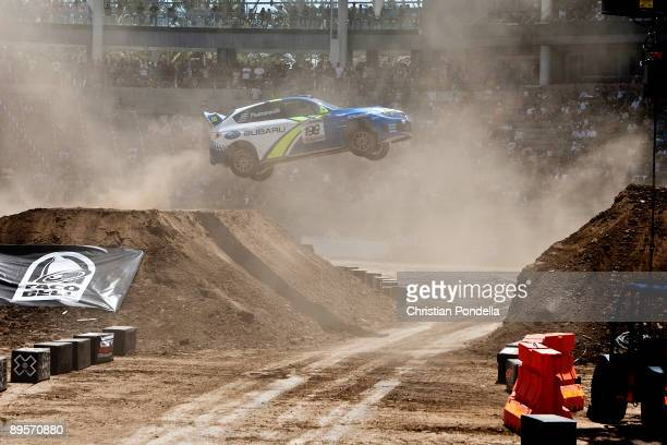 Travis Pastrana competes in Rally Car Racing at Summer X Games 15 at Home Depot Center on August 2 2009 in Carson California