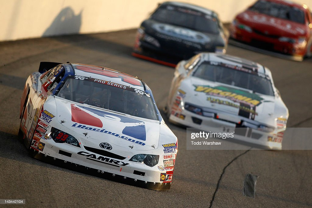 Travis Pastrana, driver of the iRacing Toyota, drives during