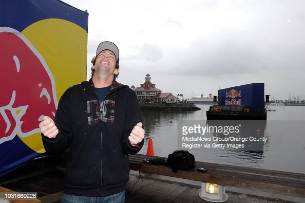 BEACH -- Travis Pastrana, standing by his takeoff ramp ...