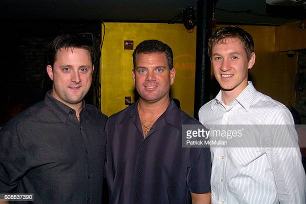 Travis Reedy Frank Luppino and Rece Tenhaken attend Drambuie Den Event with Special Guest Heather Vandeven at Level V on October 22 2007 in New York