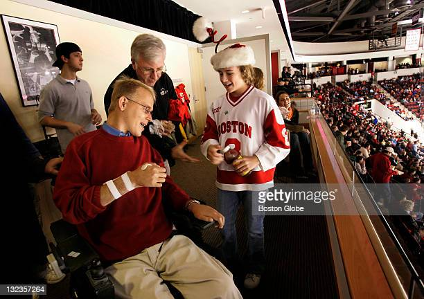 Travis Roy, who is coming on the ten year anniversary of his hockey accident that left him paralyzed, watched the Terrier's first home game of the...