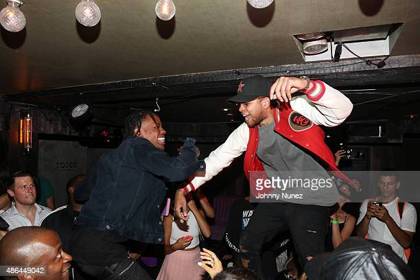 Travis Scott and DJ Chase B perform at Travis Scott's Rodeo Record Listening Party at UP and Down on September 3 in New York City