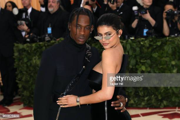 Travis Scott and Kylie Jenner attend 'Heavenly Bodies Fashion the Catholic Imagination' the 2018 Costume Institute Benefit at Metropolitan Museum of...