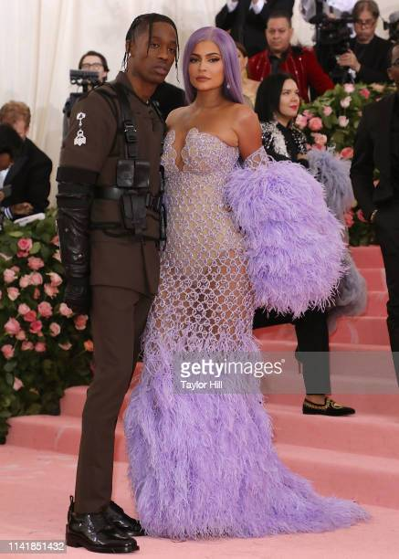 Travis Scott and Kylie Jenner attend the 2019 Met Gala celebrating Camp Notes on Fashion at The Metropolitan Museum of Art on May 6 2019 in New York...
