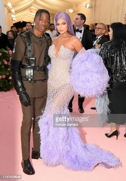Travis Scott and Kylie Jenner attend The 2019 Met Gala Celebrating Camp Notes on Fashion at Metropolitan Museum of Art on May 06 2019 in New York City