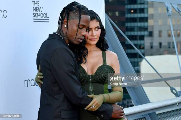 Travis Scott and Kylie Jenner attend the The 72nd Annual Parsons Benefit at Pier 17 on June 15, 2021 in New York City.