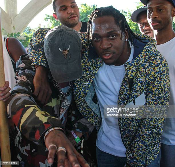 Travis Scott and Pusha T perform at REVOLVE Desert House on April 17 2016 at on April 17 2016 in Palm Springs California