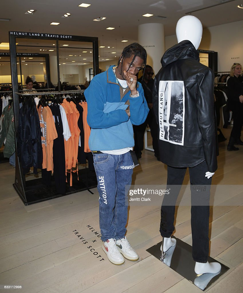 Travis Scott Appears at Barneys New York in Beverly Hills to View His Helmut Lang X Travis Scott Collection