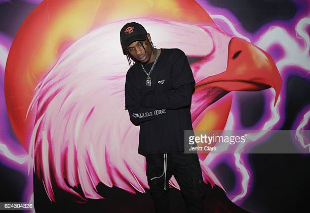 Travis Scott attends his 'Hood Toyota' PopUp Shop on November 18 2016 in Los Angeles California