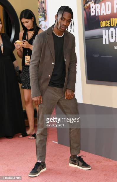Travis Scott attends Sony Pictures' Once Upon A TimeIn Hollywood Los Angeles Premiere on July 22 2019 in Hollywood California