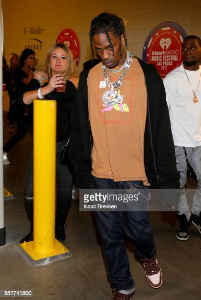 Travis Scott attends the 2017 iHeartRadio Music Festival at TMobile Arena on September 23 2017 in Las Vegas Nevada