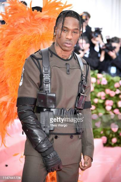 Travis Scott attends The 2019 Met Gala Celebrating Camp: Notes on Fashion at Metropolitan Museum of Art on May 06, 2019 in New York City.