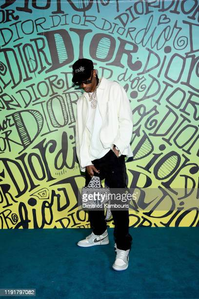 Travis Scott attends the Dior Men's Fall 2020 Runway Show on December 03 2019 in Miami Florida