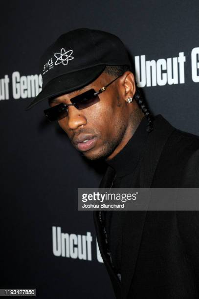 "Travis Scott attends the Los Angeles premiere of ""Uncut Gems"" on December 11, 2019 in Los Angeles, California."