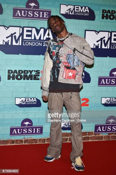Travis Scott attends the MTV EMAs 2017 at The SSE Arena Wembley on November 12 2017 in London England