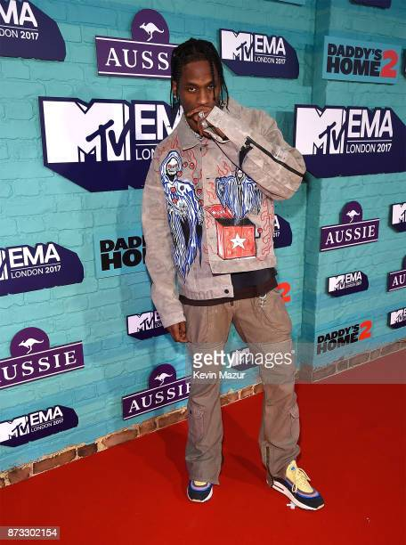 Travis Scott attends the MTV EMAs 2017 held at The SSE Arena Wembley on November 12 2017 in London England