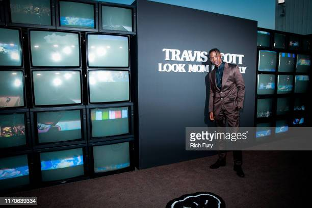 "Travis Scott attends the premiere of Netflix's ""Travis Scott: Look Mom I Can Fly"" at Barker Hangar on August 27, 2019 in Santa Monica, California."