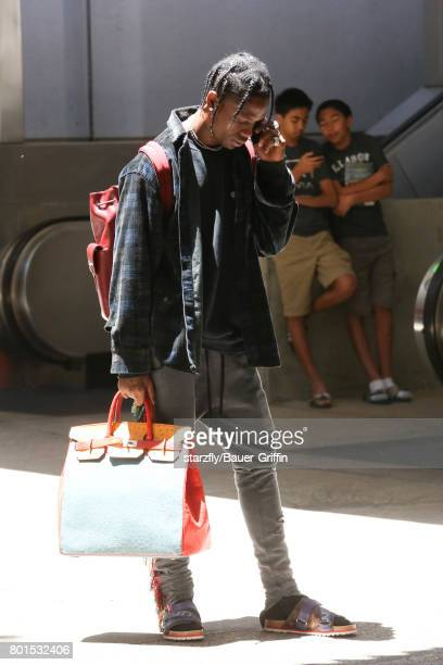Travis Scott is seen at LAX on June 26 2017 in Los Angeles California