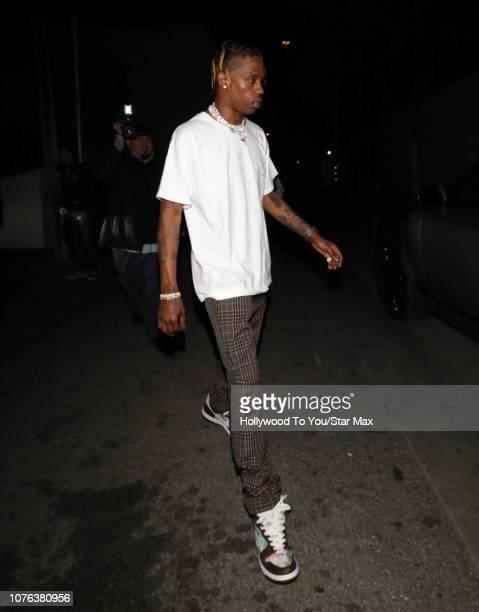 Travis Scott is seen on December 31 2018 in Los Angeles CA