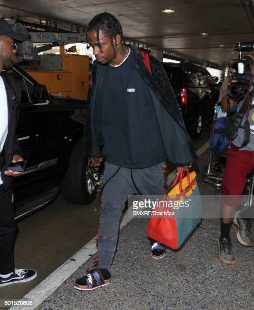 Travis Scott is seen on June 26 2017 in Los Angeles California