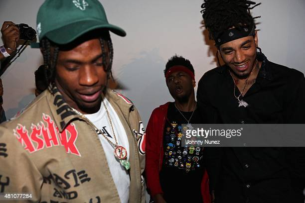 Travis Scott Metro Boomin and DJ Esco attend A Night With Future DS2 presented by LA Reid at a private location on July 16 in New York City