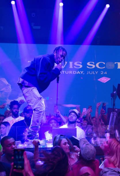 FL: Travis Scott Performance At E11EVEN