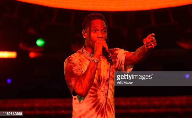 Travis Scott performs at Made in America Day 2 at Benjamin Franklin Parkway on August 31 2019 in Philadelphia Pennsylvania