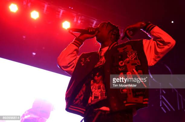 Travis Scott performs during Power 106 FM's Cali Christmas at The Forum on December 16 2017 in Inglewood California